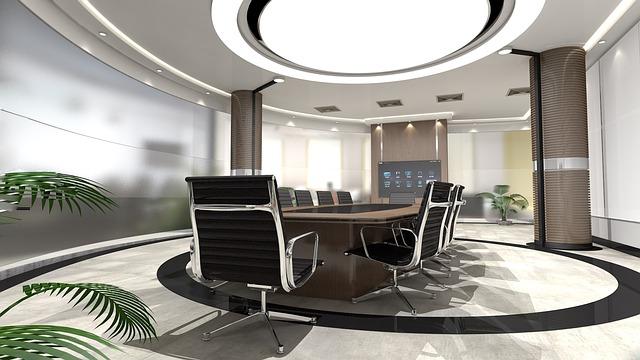 zasedací místnost, stůl, židle