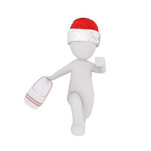 panáček, taška, vánočení čepička
