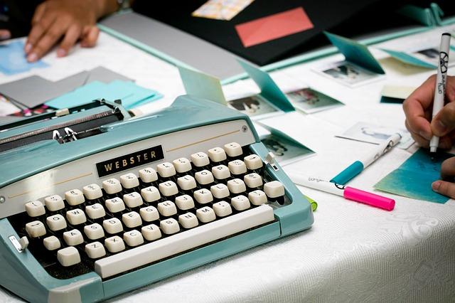 Retro psací stroj