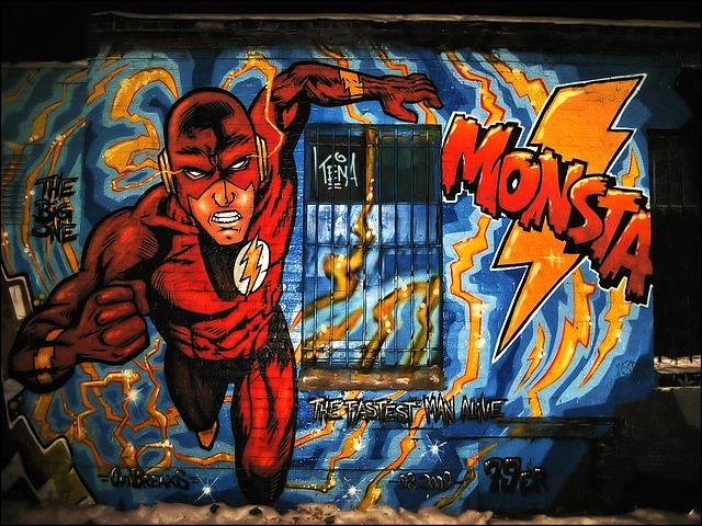 grafitty s hrdinou