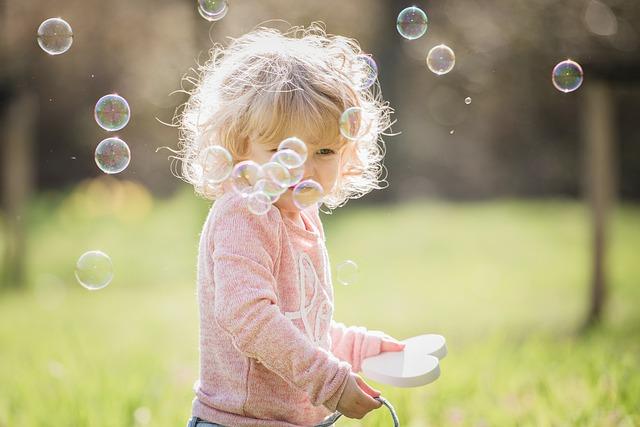 blondýnka s bublinkami