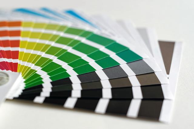paleta barev – vzorník