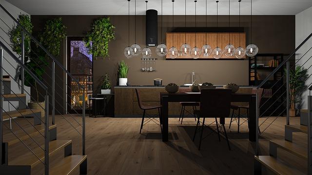 Tmavě designová kuchyně