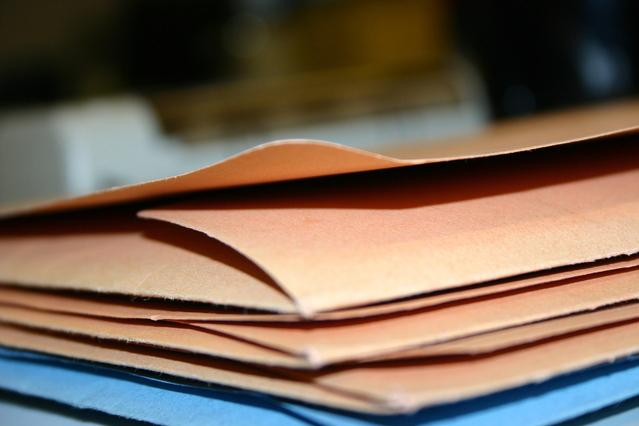 papírové zakládací desky