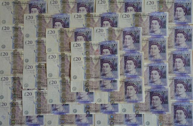 britské libry – bankovky