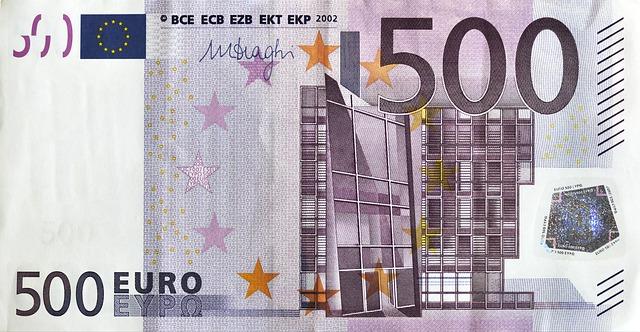 bankovka 500 euro